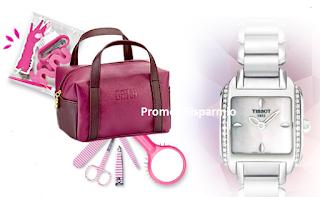 Logo Concorso ''BRAVO E Vinci'': 172 beauty case Datch e orologio Tissot