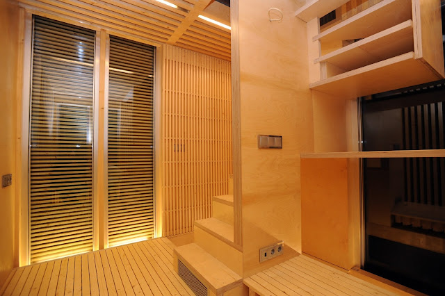 Photo of the small living room in the sustainable micro house