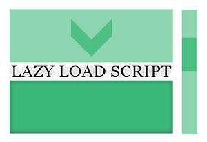 Lazy Load script obtenha um carregamento mais rapido no blogger