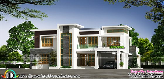 Contemporary residence box type 2931 sq-ft
