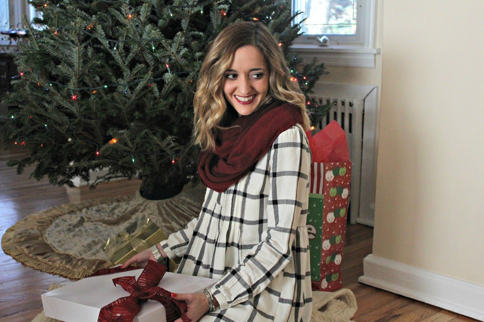 black and white plaid dress old navy