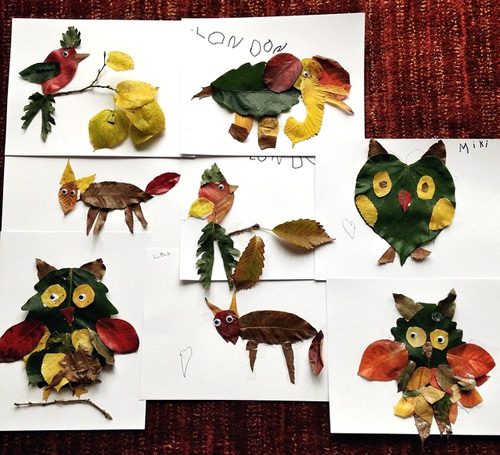 My Owl Barn Make Animals With Fall Leaves