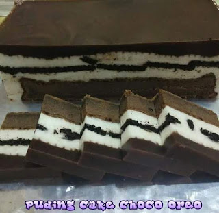 Puding cake choco oreo