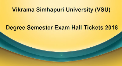 VSU Degree Semester Hall Tickets 2018 Download
