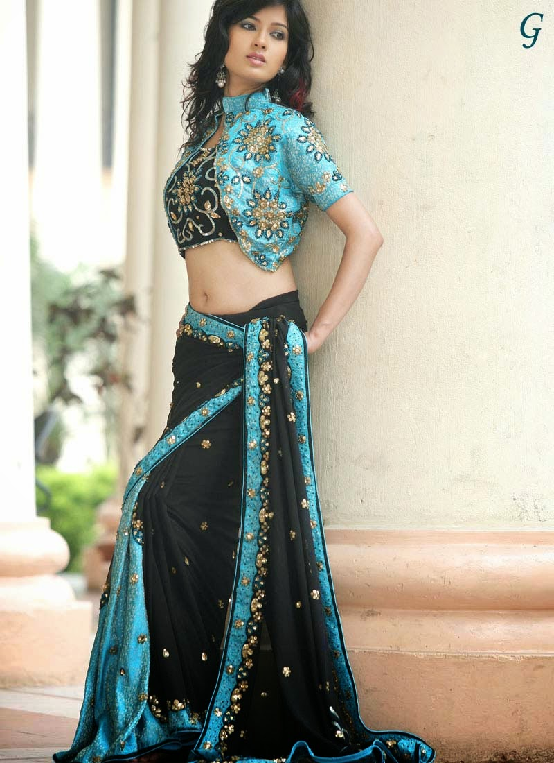 Design 2 Fashion Blue Sarees Collection Bridal Sarees