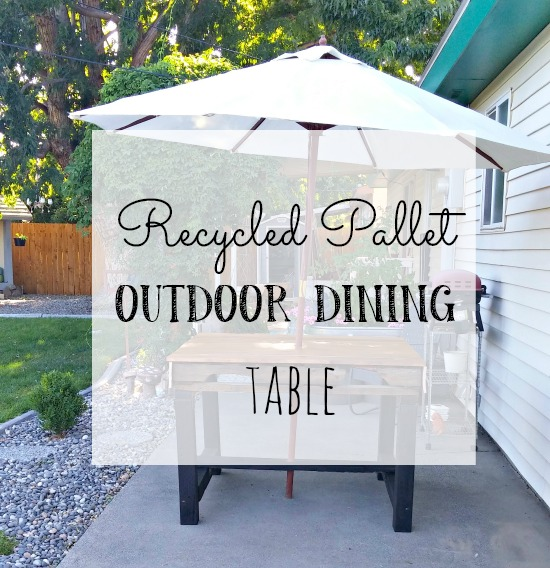 How to make a patio dining table with a pallet