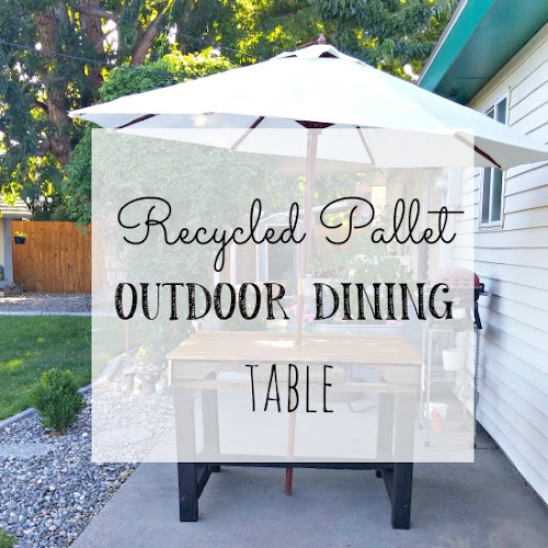 Recycled Pallet Outdoor Dining Table