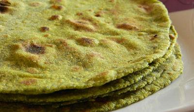 receta de pan Palak Paratha