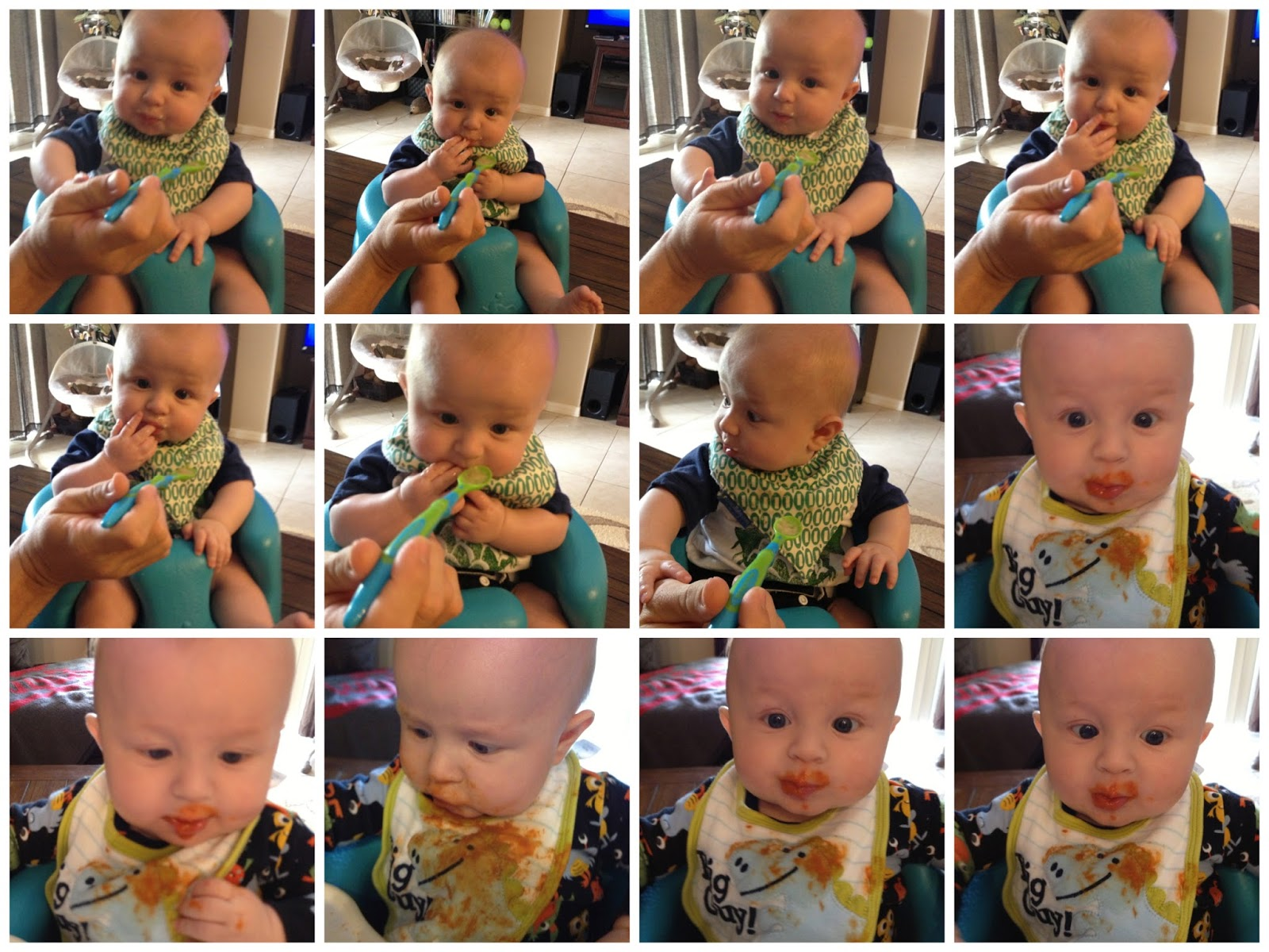 Holly The Mommy Baby Asher Begins Solids 4 1 2 Months