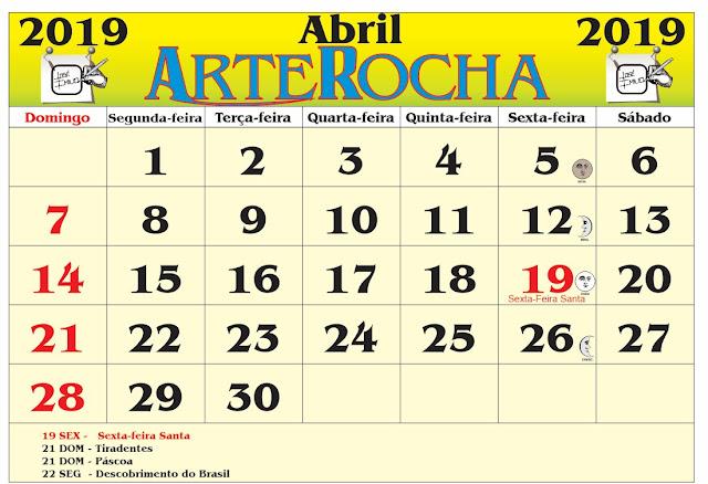 Resultado de imagem para calendario arterocha