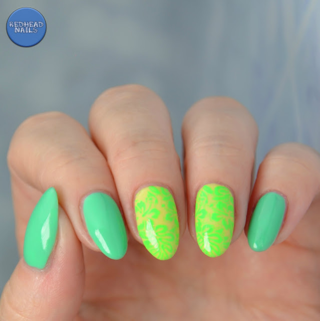 "B. Loves Plates/Colour Alike ""B. a Green Light"" swatch"