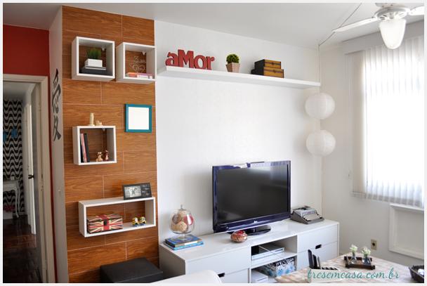 decoração de sala com papel contact