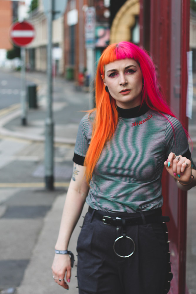 Alternative Fashion Blogger Foxxtailz Styles Disturbia Outfit