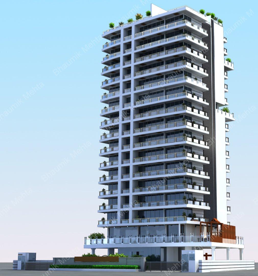 Building A Backyard Gym: Bhaumik Mehta's 3d Creations: Highrise Building Project