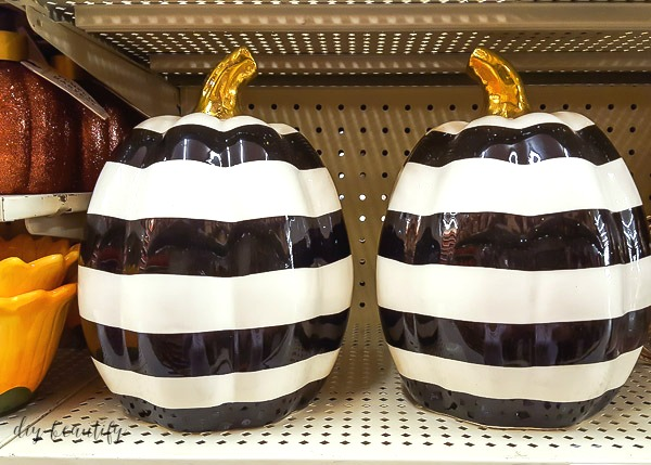 black and white striped pumpkins