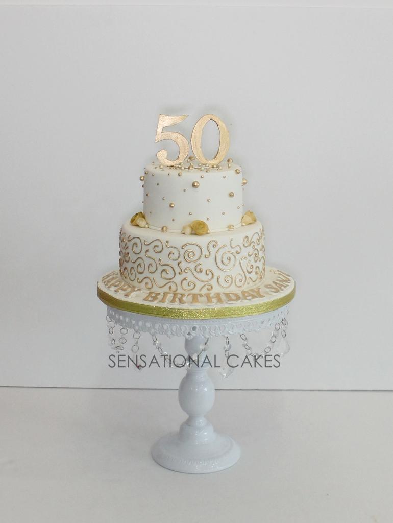 The Sensational Cakes: golden 50th birthday cake , sheer golden ...