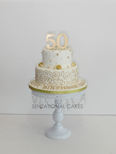 The Sensational Cakes Golden 50th Birthday Cake Sheer