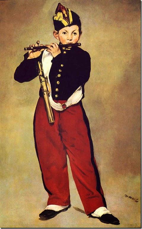 O Tocador de Pífano - Pinturas impressionistas pintadas por Édouard Manet