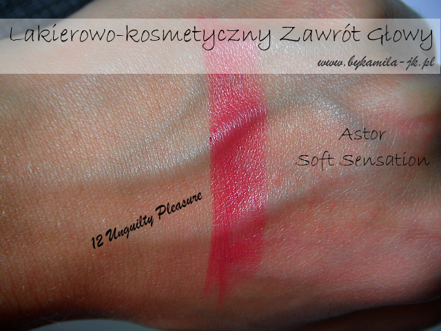 Szminka w kredce Astor Unguilty Pleasures swatch