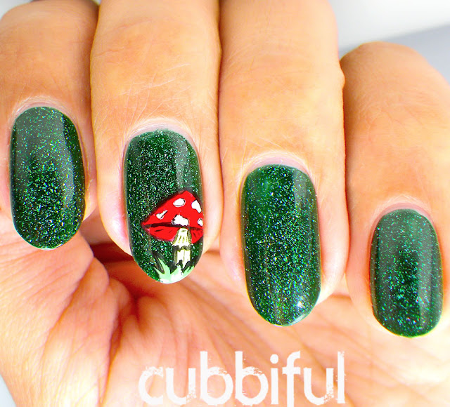 enchanted forest nail art