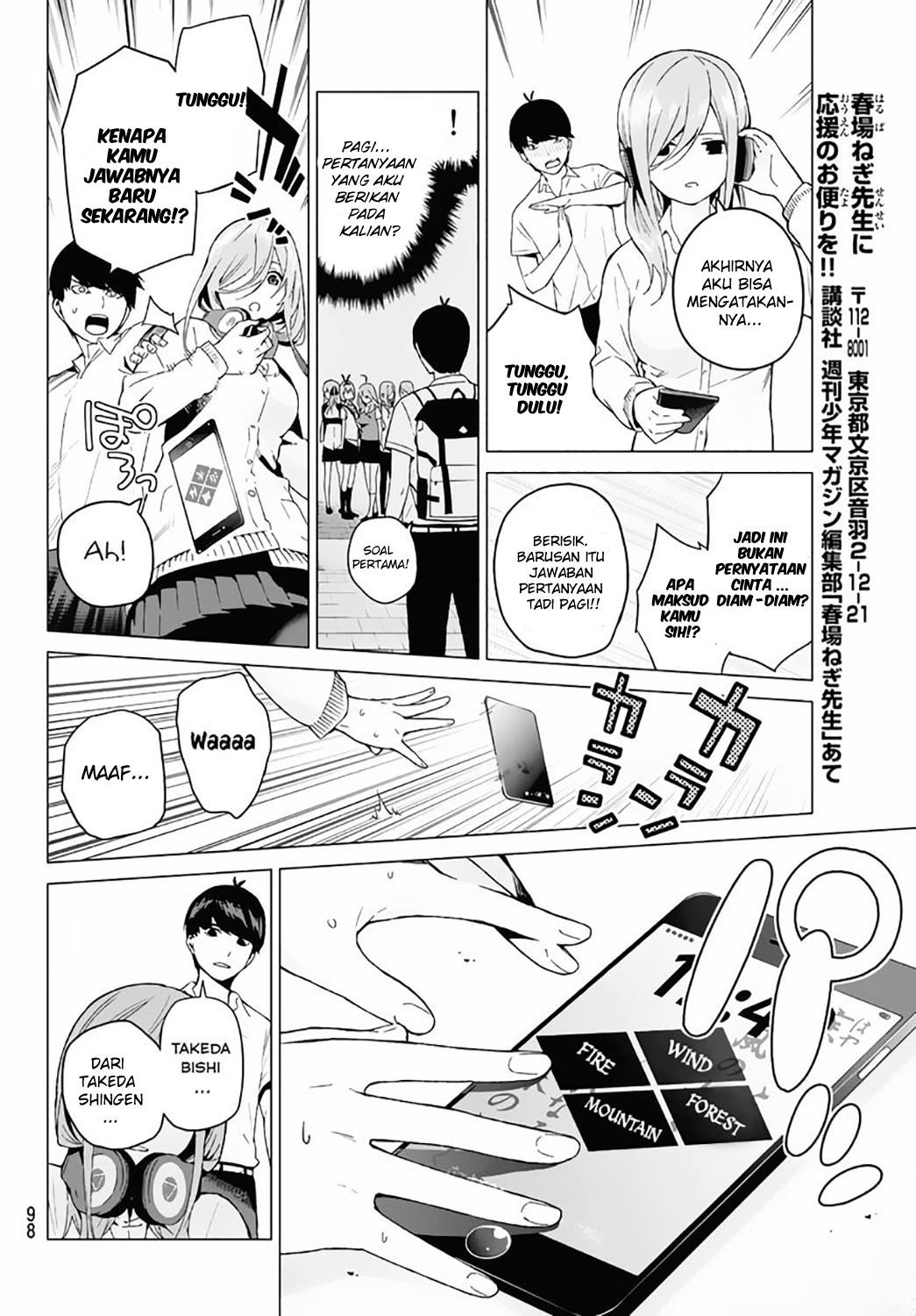 Manga Go-toubun No Hanayome Chapter 3 Bahasa Indonesia