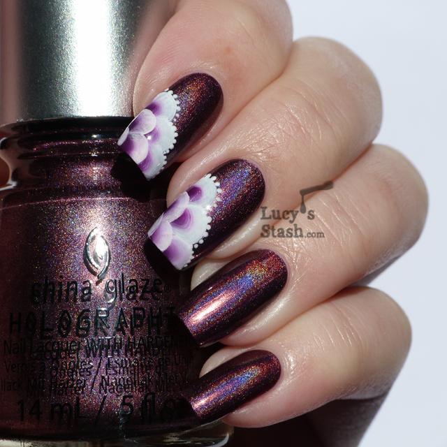 Lucy's Stash - One stroke nail art