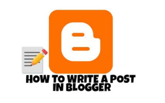 Blogger me post kaise likhe