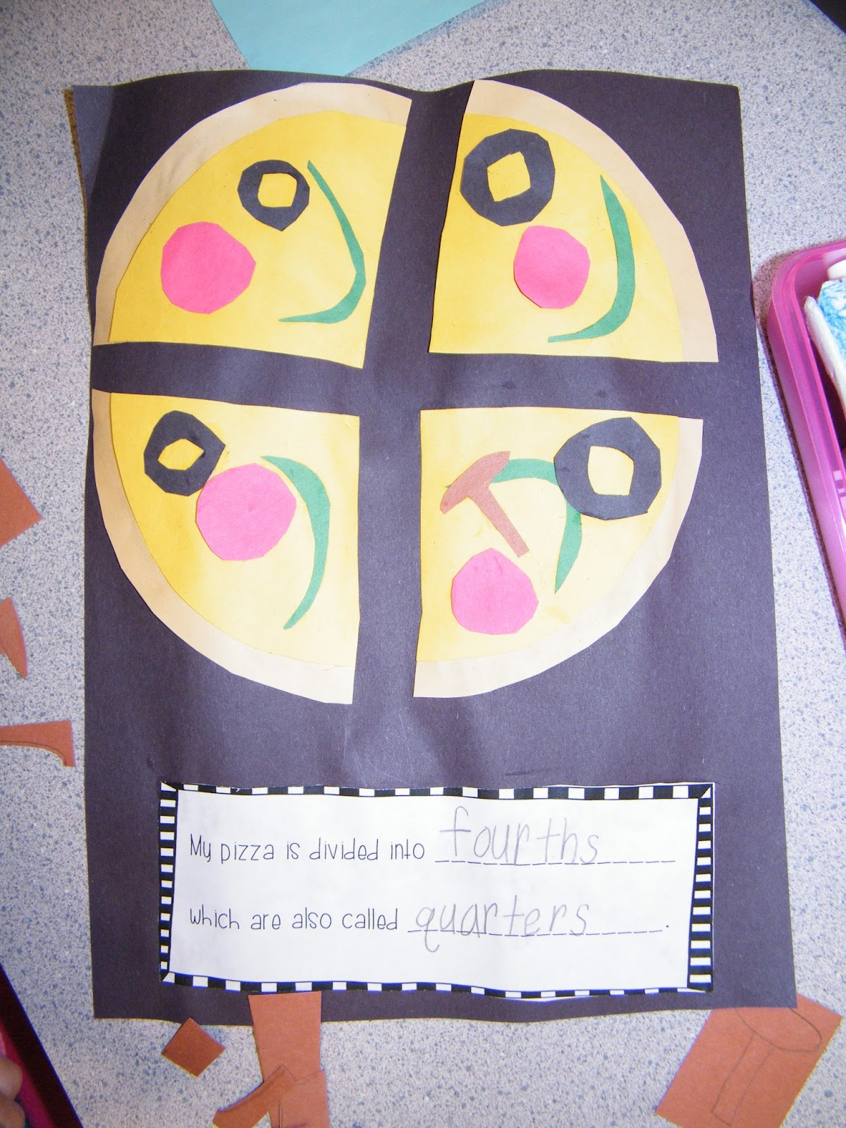 Adventures With Firsties Pizza Fractions