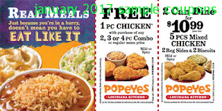 Popeyes Chicken Coupons