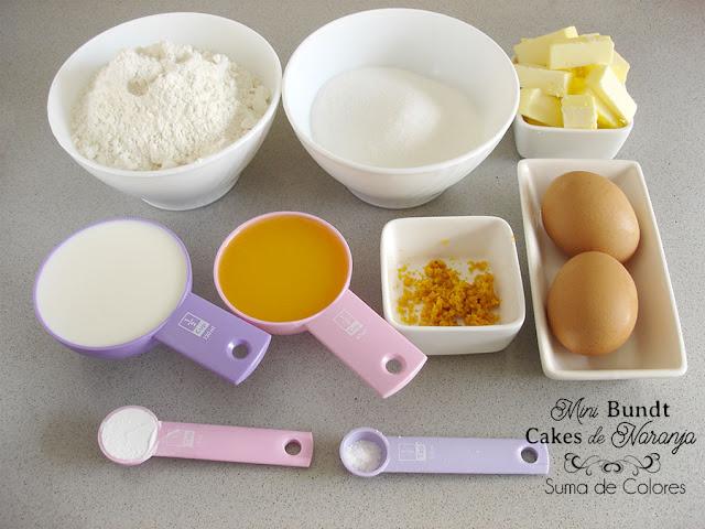 Mini-Bundt-cake-Naranja-Ingredientes