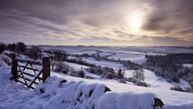 England Countryside Winter