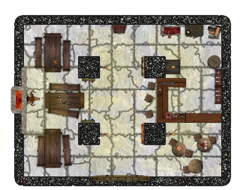 A small, over-built tavern
