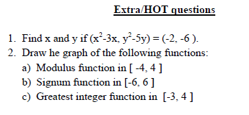 Relation and function concept and HOT questions,