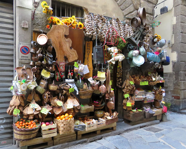 The impressive display of a shop, Borgo Santissimi Apostoli, Florence