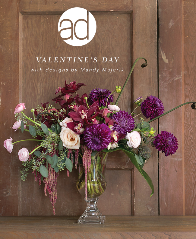 Mandy Makerik of HotHouse Design Studio teamed up with Accent Decor to create inspiring floral arrangements for their wholesale valentine's day collection