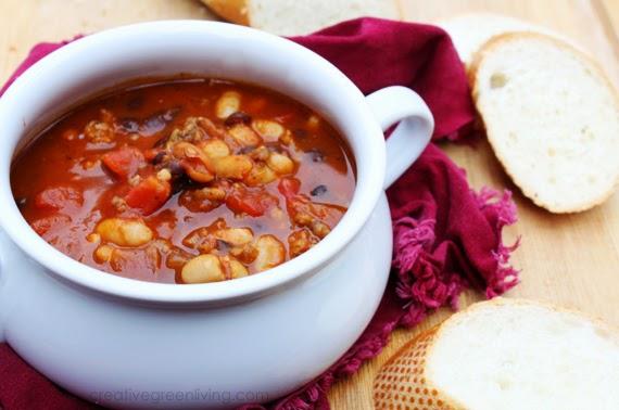 Italian Style Sausage And Squash Chili Easy Stovetop Chili Recipe Creative Green Living