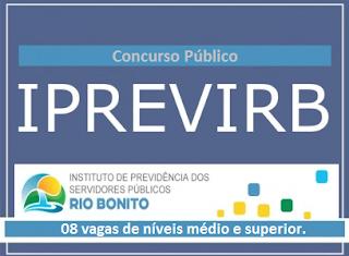 apostila concurso IPREVIRB Rio Bonito 2016 - Assistente Administrativo