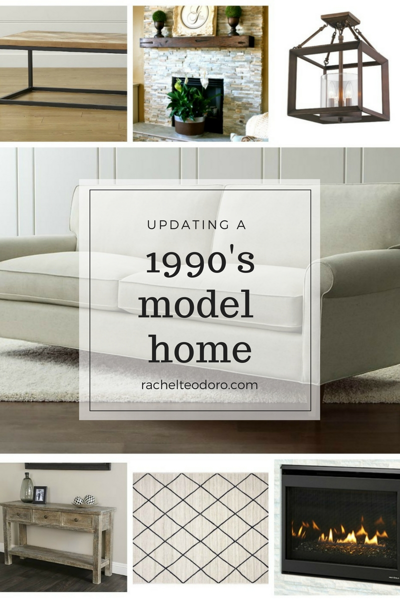 Updating a 90\'s Living Room in a Model Home - Rachel Teodoro