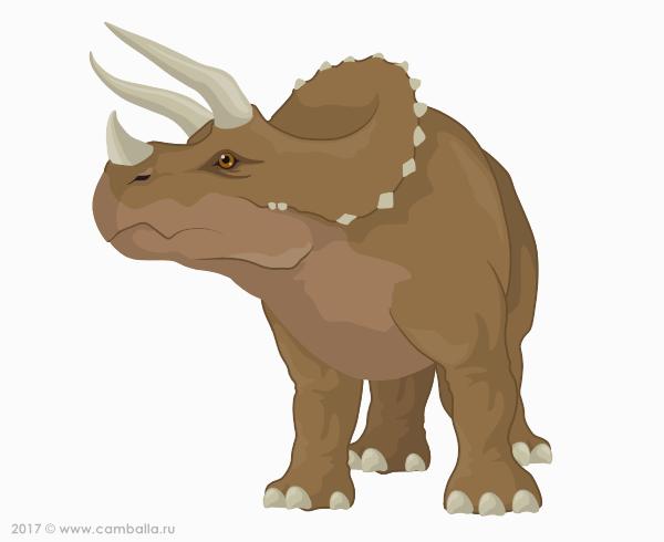 Трицератопс - большая картинка