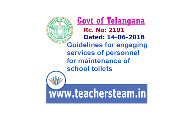 Guidelines for engaging services of personnel for maintenance of school toilets