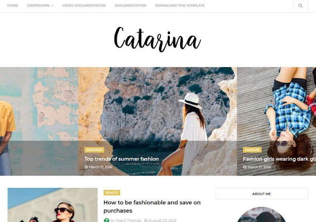 Catarina Blogger Theme Free