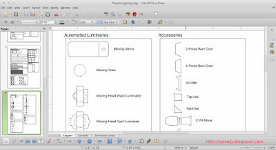 Cara Menggambar Stage Lighting di Linux LibreOffice Draw