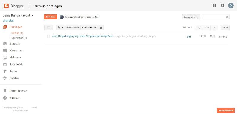 Mengenal Tampilan dan Isi Menu Dashboard Blog