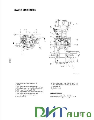 Free Automotive Manuals: KOMATSU PC100-6, PC120-6 SHOP