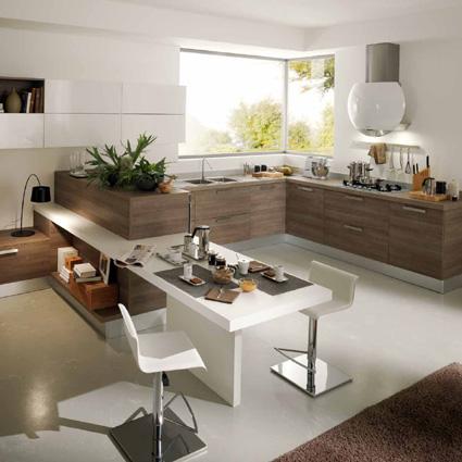 20 formas de incorporar una mesa en la cocina cocinas - Sobre encimera cocina ...