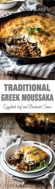 MOUSSAKA (GREEK EGGPLANT BEEF BAKE)