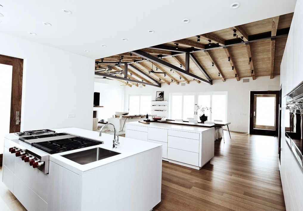 Cococozy see this house 6 million dollar malibu ocean - Open kitchen floor plans with islands ...