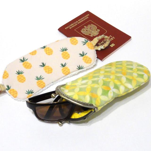 Ананас - подарок для жарких женщин. Не убирайте в чемодан. Везите в сумке, чтобы маска для сна и очечник были всегда под рукой. Не остались в багажном отделении