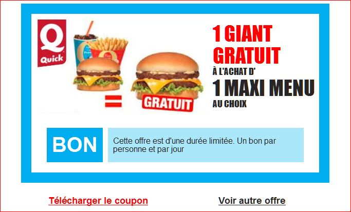 faux bon gratuit pour un giant de quick vrai phishing. Black Bedroom Furniture Sets. Home Design Ideas