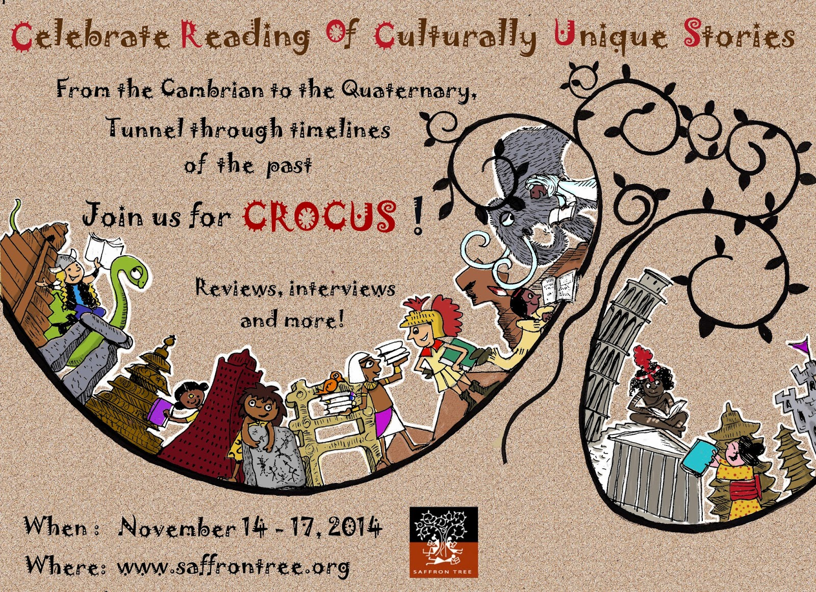 saffron tree crocus online book festival giveaway contest 2014